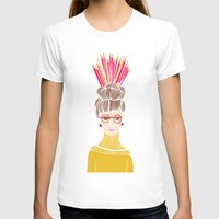 Pencil Hat Womens Fitted Tee White SMALL