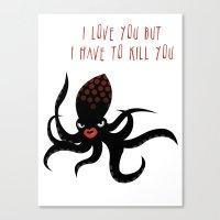 Squid Fatale Canvas Print