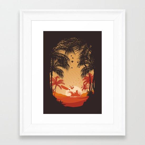 Summertime Madness Framed Art Print