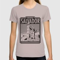 Salvador - Bahia - Brazil Womens Fitted Tee Cinder SMALL