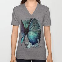 Abstract Butterfly Unisex V-Neck