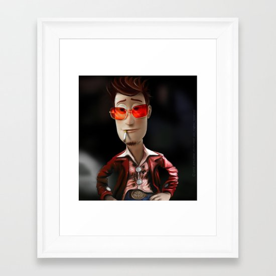 Hit me has hard has you can Buzz..!...(Fight Club) Framed Art Print