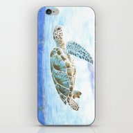 iPhone & iPod Skin featuring Sea Turtle by Savousepate