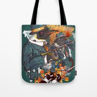 Mobster Puzzle Tote Bag