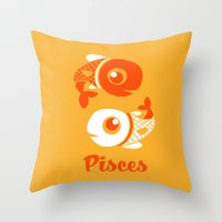 Pisces: The Fishes Throw Pillow