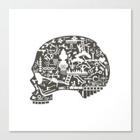 Icon Skull Canvas Print