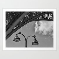 eiffel Art Prints featuring Eiffel by Sébastien BOUVIER
