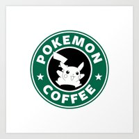 Pokemon Coffee Art Print