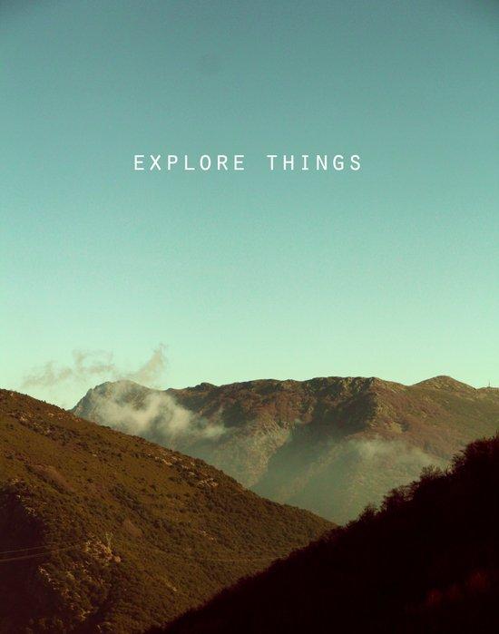 explore things Art Print