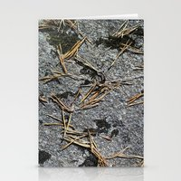 fir needle on a rock Texture Stationery Cards