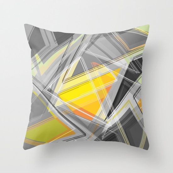 ∆Yellow Throw Pillow