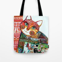 Russian Cat : Tote Bag