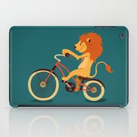 Lion on the bike iPad Case