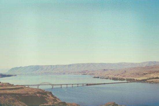 Columbia River Polaroid Art Print