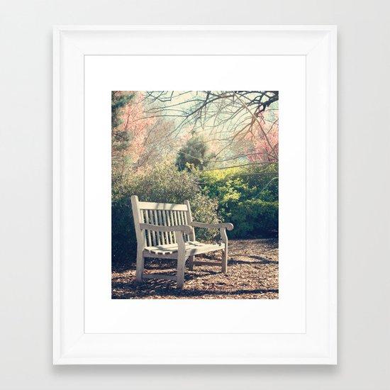 Waiting for you! Framed Art Print