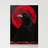 Gothic Red Stationery Cards