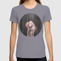 Awaiting For The Rain Womens Fitted Tee Slate SMALL