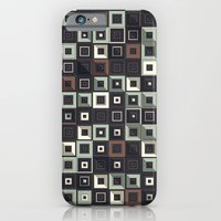 iPhone Cases featuring Lost in Squares II by Metron