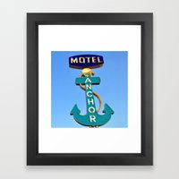 Anchor Motel (Square) Framed Art Print