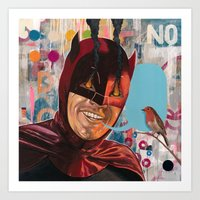 Caped Crusader By Famous… Art Print