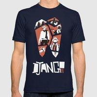 Django Unchained Mens Fitted Tee Navy SMALL