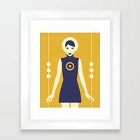 Isolde Yellow Framed Art Print