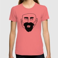 Beard Womens Fitted Tee Pomegranate SMALL