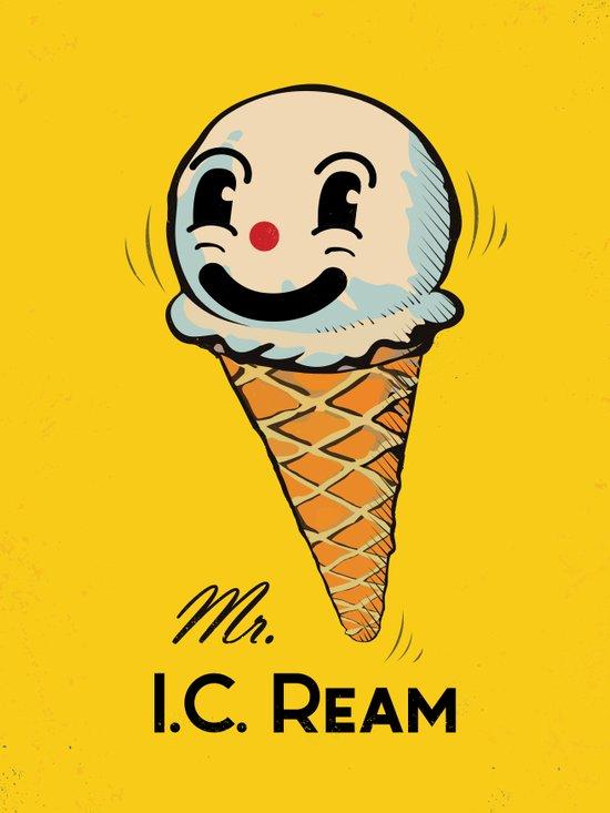 MR. Ice Cream, Mr. I.C. Ream Art Print