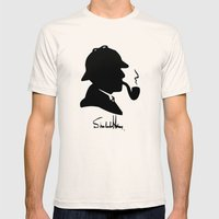 World's Greatest Detective Mens Fitted Tee Natural SMALL