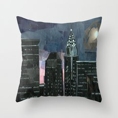 Night time in the city Throw Pillow
