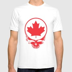 Canadian Steal Your Face (variation #2) White Mens Fitted Tee SMALL