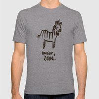 Monsieur Zebra  Mens Fitted Tee Athletic Grey SMALL