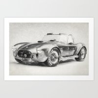 AC Cobra Shelby 427 Sketch Art Print
