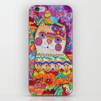 FLOWER CATT iPhone & iPod Skin