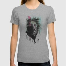 RIOT girl Womens Fitted Tee Athletic Grey SMALL