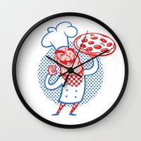 Pizza Chef Wall Clock