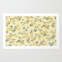 vintage floral print Art Print