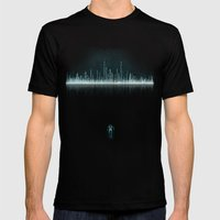 TRON CITY Mens Fitted Tee Black SMALL