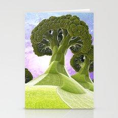 Broccoli Planet / / #fractal #fractals #3d Stationery Cards