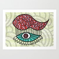 Eye Cloud Art Print