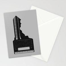 Piano Key. Stationery Cards