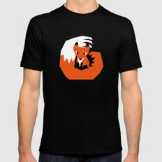 Red Fox Black Mens Fitted Tee SMALL