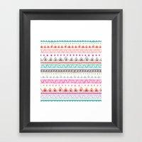 Half Full Stripe Framed Art Print