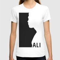 Ali Womens Fitted Tee White SMALL