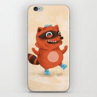 Rollerblade Raccoon iPhone & iPod Skin