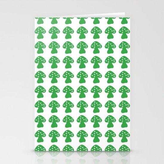 mushroom green Stationery Card