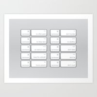 Ten Commands Art Print