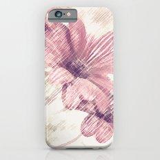 Pink Flowers Slim Case iPhone 6s
