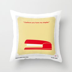No255 My OFFICE SPACE minimal movie poster Throw Pillow