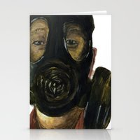 Gas mask Stationery Cards